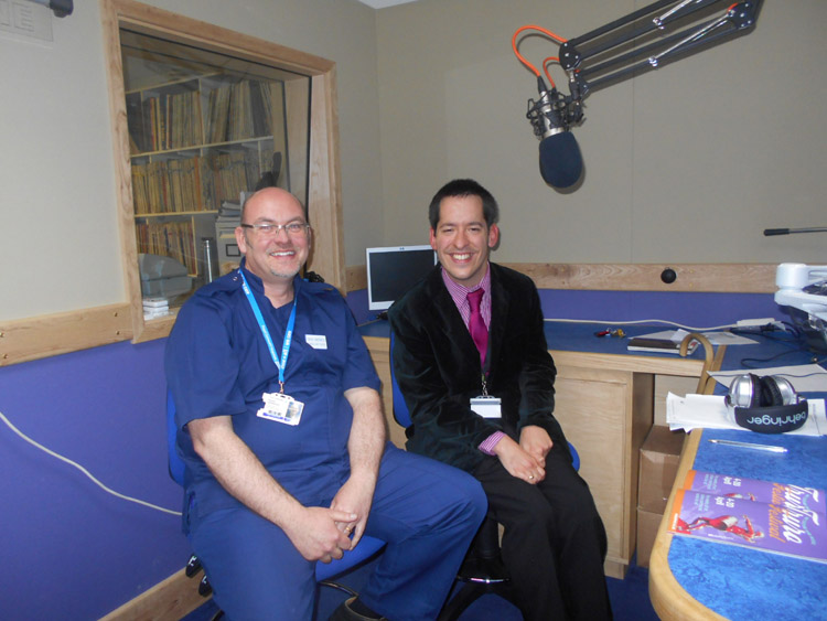 Fraser Underwood the Associate Director of Nursing at the RCHT with Mark Sanders